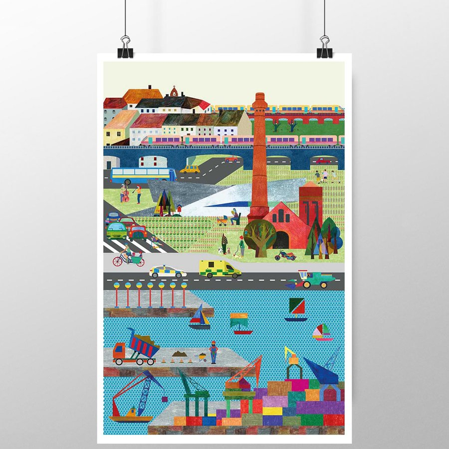 The sounds of the city - poster