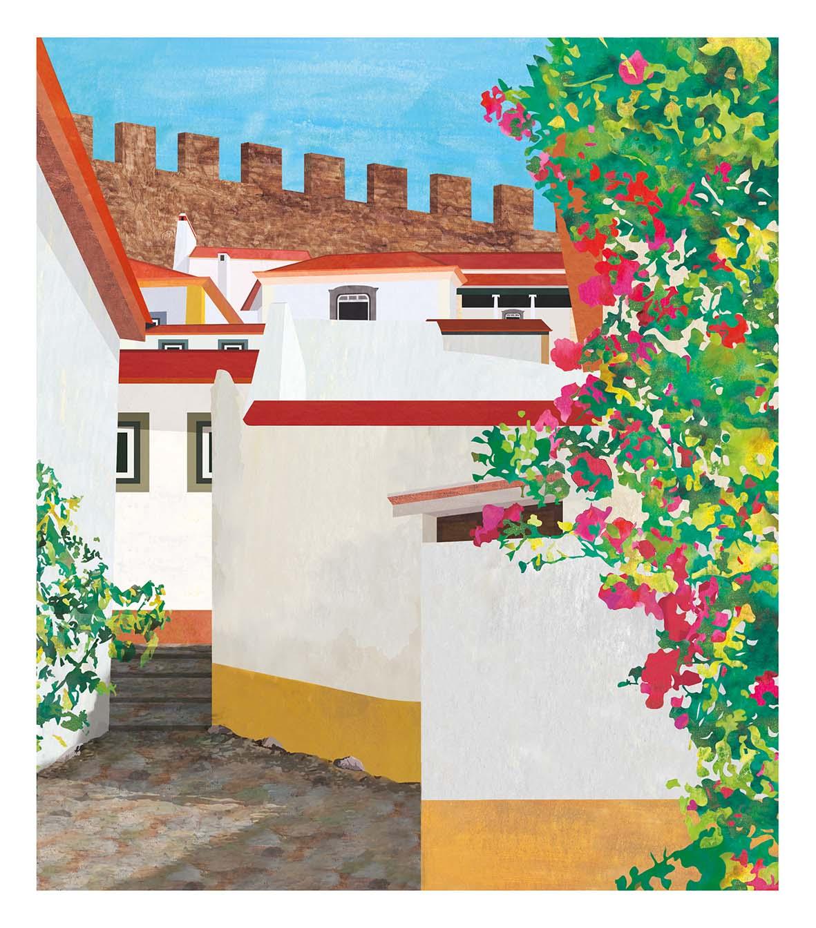 Teresa Arroyo Corcobado, Illustration, Portugal, Óbidos
